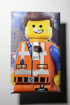 Lego Movie Emmet Light Switch Plate Cover Room By ComicRecycled, $7.99