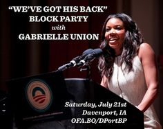 Gabrielle Union has President Obama's back, and she's joining us in Davenport to show it! http://OFA.BO/DPortBP