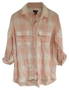 95c7a20a21ff8 Gap Pink Buffalo Plaid Casual Button-down Top Size 8 (M) 66% off retail