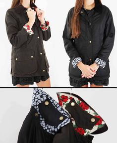 New #LibertyPrint Barbour jackets have arrived. Red or blue - which is your favourite?