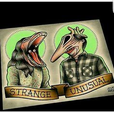 Strange and Unusual by Parlor Tattoo Prints.