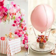 Salve a decoração da sua festa com balões. Ideias lindas e inspiradoras para você usar na sua próxima festa!