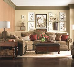 Custom Upholstery - Manor Custom 3 pc. Sectional by Bassett