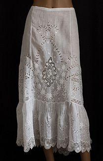 Edwardian embroidered skirt