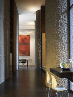 Apartment 60 : Modern corridor, hallway & stairs by Mackay + Partners llp