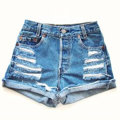 Size 29 high waisted denim shorts (6.940 CLP) ❤ liked on Polyvore featuring shorts, bottoms, pants, short, high-waisted denim shorts, high rise shorts, high-rise shorts, short shorts and high-waisted jean shorts