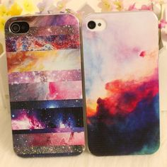 Image of [grhmf2100016]Galaxy Painted Colorful Star  Hard Cover Case For Iphone 4/4s/5