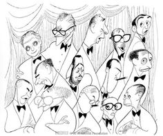 238 best the works of al hirschfeld images celebrity caricatures Howls Moving Castle Watch Online you can spot ge e gershwin in this illustration by al hirschfeld can you identify harold arlen
