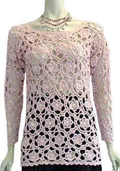 Pink Vintage 80s Crochet Sweater