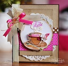 March Release - Coffee House Clear Stamps | JustRite Papercraft Inspiration Blog