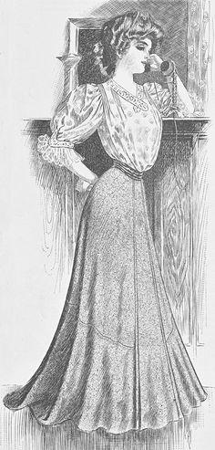 1904 Edwardian fashion