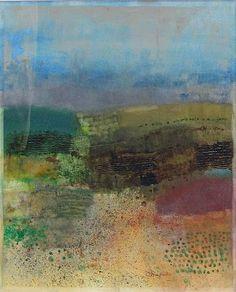 Mark English, Untitled Landscape 1, mixed media on paper, 19x15