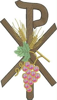 Première Communion, First Holy Communion, Embroidery Stitches, Embroidery Designs, Chi Rho, Altar Cloth, Bobbin Lace Patterns, Christian Symbols, Church Banners