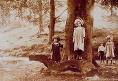 A charming group of Victorian children pictured in the grounds of Errwood Hall in the Goyt Valley. Peak District, Folk, National Parks, History, Couple Photos, Pictures, Victorian, Painting, Group