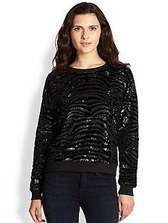 By Zoe Black Zebra Sweater