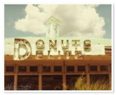 Retro Donut Shop Photograph - 8x10 print - Jillian Audrey Designs via Etsy #fpoe