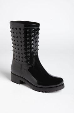 Valentino 'Rockstud' Rain Boot (Women) | Nordstrom