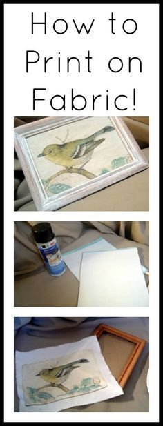 Learn how to print on fabric with your home printer.