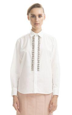 Shop Marni Lily White Embroidered Blouse at Moda Operandi