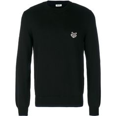 Kenzo Classic Sweater (19,130 INR) ❤ liked on Polyvore featuring men's fashion, men's clothing, men's sweaters, mens elbow patch sweater, mens woolen sweaters and mens wool sweaters