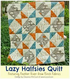 FabricWorm: Guest Tutorial | Lazy Halfsies Quilt | by Deanna McCool