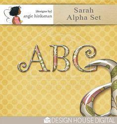 This weekend only! Sarah alpha freebie from Angie Hinksman #scrapbook #digiscrap #scrapbooking #digifree #scrap