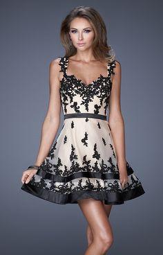 This dress is so flirty La Femme 20606 Dress - 2015