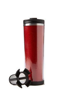 tea-riffic travel mug Tea Riffic, Cogs, Travel Mug, Bottles, Tableware, Stuff To Buy, Dinnerware, Dishes