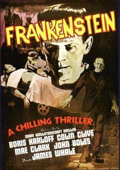 Image result for frankenstein movie poster
