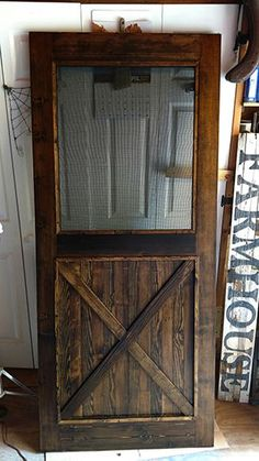 Custom Made Custom Made Re-Milled Barn Wood Screen Door
