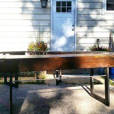 Turnbuckle Desks #brandreserveinc #reclaimedwood #turnbuckletable #hardwork #furnituredesign #industrialrustic #rustic #homedecor #woodworking #industrialdecor #art #fun