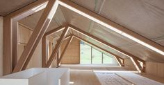 """Joinery firm Anton Mohr won the """"Vorarlberger holzbau_kunst"""" timber construction award for the design of its imaginative yet understated timber structure. #construction #timber #baubuche #inspire #pollmeier"""