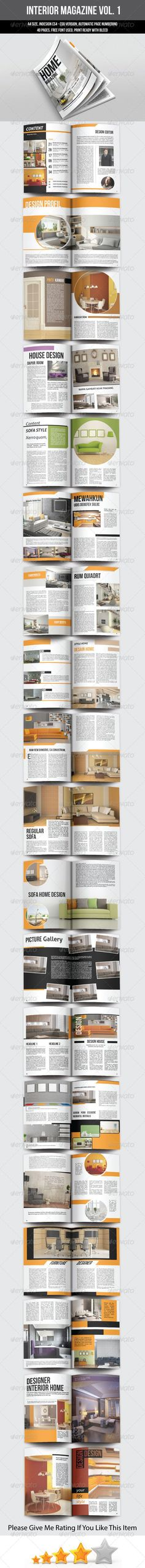 A5 Portrait Interior Magazine Template by Rianda This is a professional and clean. with a minimalist design. can be used for all types of industries.40 page magazine that can meet
