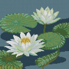 PINN Cross Stitch : White Lotus Cross Stitch Kits on Flowers & Fruits category Cross Stitch Rose, Cross Stitch Flowers, Cross Stitch Kits, Cross Stitch Alphabet, Modern Cross Stitch Patterns, Cross Stitch Designs, Cross Stitching, Cross Stitch Embroidery, Owl Quilt Pattern