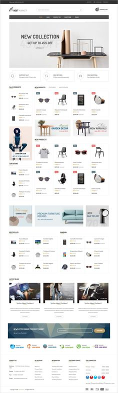 BestMarket is a modern and attractive responsive #HTML #Bootstrap template for #furniture #store eCommerce website with 6 multipurpose homepage layouts download now➩ https://themeforest.net/item/bestmarket-multipurpose-ecommerce-template/18734180?ref=Datasata