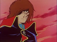 Harlock at sunset Space Pirate, Pirates, Universe, Sunset, Capri, Youth, Outer Space, Cartoon, Cosmos