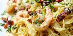 Shrimp Spaghetti Carbonara Make your favorite silky pasta even more addictive by adding seafood.