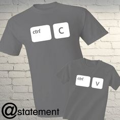 Father & Son Cute Matching T-shirts  COPY PASTE by AstatementShop