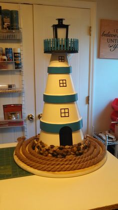 8 Simple Clay Pot Lighthouse Projects for Your Garden Flower Pot Art, Clay Flower Pots, Flower Pot Crafts, Clay Pot Projects, Clay Pot Crafts, Diy Clay, Flower Pot People, Clay Pot People, Clay Pot Lighthouse