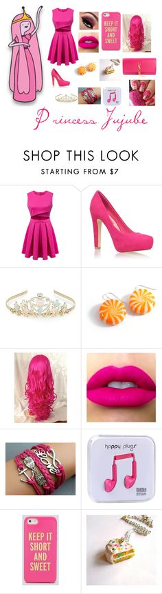 """""""Princess Jujube"""" by dressamalinosqui ❤ liked on Polyvore featuring Miss KG, Monsoon, Happy Plugs, Kate Spade and Yves Saint Laurent"""