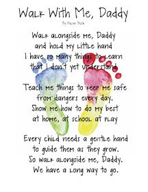 """Walk With Me, Daddy"" poem keepsake. This poem I wish I could I have sent to my daddy but as sad as it is he's not here for me to send it to him but I know he hears me and he knows I wish him a happy Father's Day. Rest in paradise daddy I love you Daddy Day, My Daddy, Daddy Daughter, Daddys Girl, Daughters, Happy Daddy, Do It Yourself Inspiration, Inspiration Quotes, Motivation Inspiration"