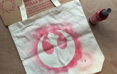 Star Wars Tote Bag - With just a few inexpensive items, you can make a one-of-a-kind bag that proclaims your support of the Resistance. And it's so easy even your kids can make their own!