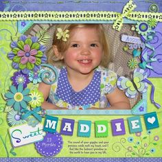 Sweet Maddie, digital layout by pawprints