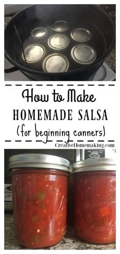 Salsa Recipe for Canning Recipe for canning the best homemade salsa. Easy recipe for beginning canners.Recipe for canning the best homemade salsa. Easy recipe for beginning canners. Tomato Salsa Canning, Salsa Canning Recipes, Pressure Canning Recipes, Tomato Salsa Recipe, Fresh Tomato Recipes, Mushroom Tomato Recipe, Canning Diced Tomatoes, Fresh Tomato Salsa, Homemade Canned Salsa