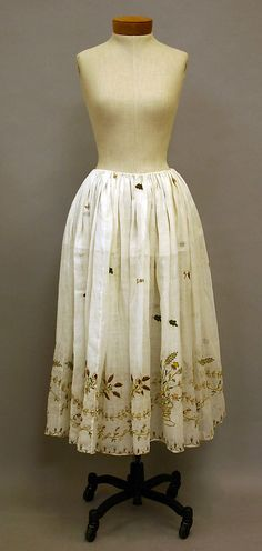 Skirt Date: late 18th century Culture: British Medium: linen Accession Number: 2010.156