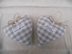 coeurs coussin de porte beau vichy ruban avec message : Textiles et tapis par l-atelier-de-rose-cottage