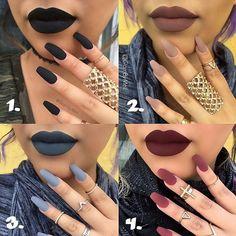 Lipstick and polish Fall Lipstick, Lipstick Art, Lipstick Colors, Liquid Lipstick, Lip Colors, Winter Makeup, Fall Makeup, Beauty Junkie, Makeup Forever