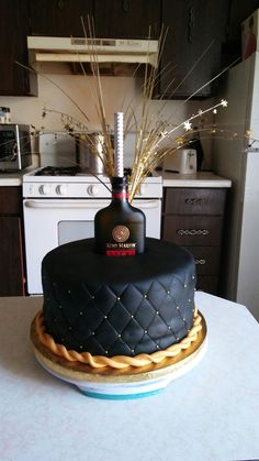 Remy Martin Cake 23rd Birthday Cakes For Men Hennessy Liquor