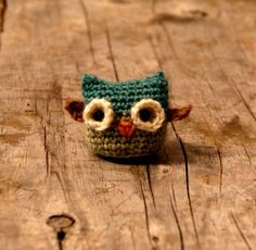 Wee Tiny Knitted Owl