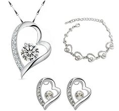 New 2016 Crystal Heart Silver Plated Necklace Earring And Bracelet Jewelry Sets Love Heart Pendant Bracelet and Earring Gift Set For Women Unbranded http://www.amazon.com/dp/B01DI3U96A/ref=cm_sw_r_pi_dp_eLu.wb0NWSAK8